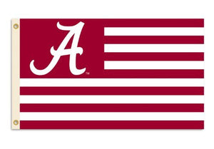 Alabama Crimson Tide with Stripes 3-by-5 Foot Flag with Grommets