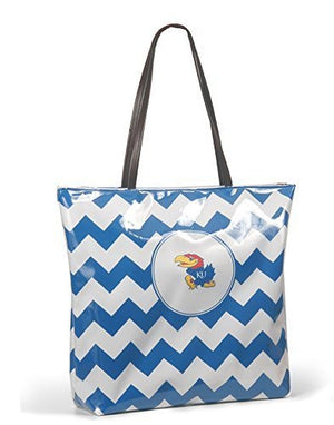 Kansas Jayhawks Chevron Tote Bag