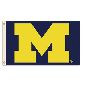 Michigan Wolverines 3-by-5 Foot Flag With Grommets