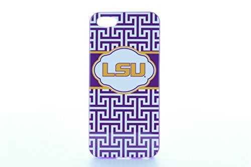 LSU Tigers Iphone 5 Case - Greek Key Design