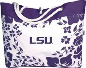 LSU Tigers Hibiscus Tote Bag