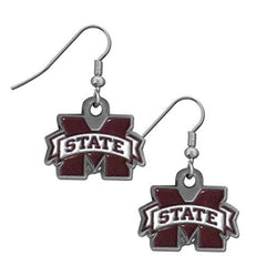 Mississippi State Bulldogs Dangle Earrings