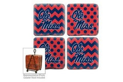 Ole Miss Rebels Coaster Set of 4