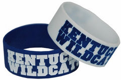 Kentucky Wildcats Wide Band Silicone Bracelet (Pack of 2), Team Color