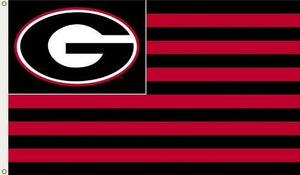 "Georgia Bulldogs 3-by-5 Foot ""G Stripes"" Flag With Grommets"