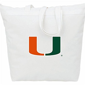Miami Hurricanes Zipper Tote Bag
