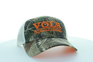 Tennessee Volunteers Camo Bar Hat with Mesh Trucker Style