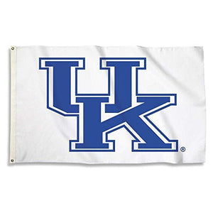 Kentucky Wildcats Flag with Grommets, 3' x 5' White Background