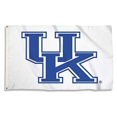 Picture of Kentucky Wildcats Flag with Grommets, 3' x 5' White Background