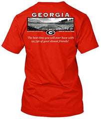 Georgia Bulldogs Friends Stadium Tshirt - Red