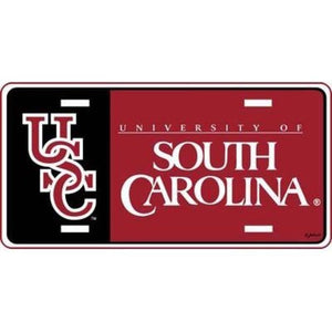 South Carolina Gamecocks Logo License Plate