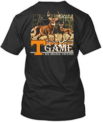 Tennessee Volunteers Deer Rattle Tshirt - Black