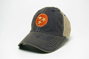 Tennessee Tri-star Trucker Style Hat/Cap - 2 Colors - Navy