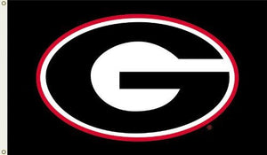 Georgia Bulldogs 3-by-5 Foot Flag G Logo with Black Background with Grommets
