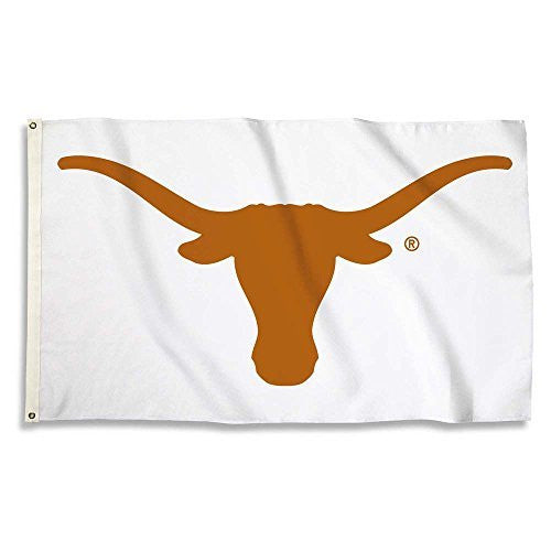 Texas Longhorns Flag with Grommets, 3' x 5', White