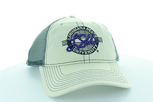 LSU Tigers Stone/Gray Circle Hat with Mesh Trucker Style