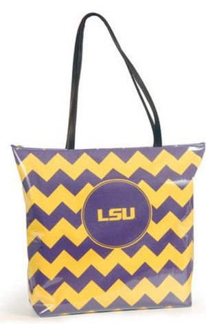 LSU Tigers Large Chevron Shopper Tote