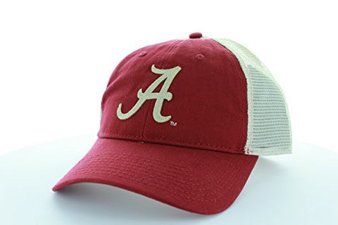 "Picture of Alabama Crimson Tide ""A"" Logo Trucker Hat Adjustable with Mesh"