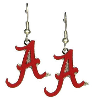 Alabama Crimson Tide A Logo - NCAA Team Logo Dangler Earrings