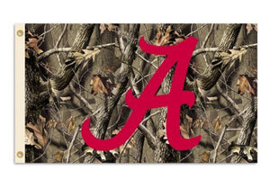 Alabama Crimson Tide 3-by-5 Foot Flag with Grommets - Camo Background