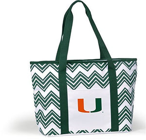 Miami Hurricanes Chevron Cooler Tote