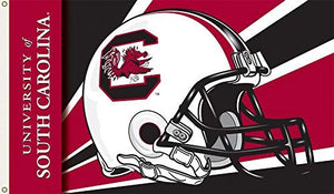 South Carolina Gamecocks Helmet Design Traditional Flag