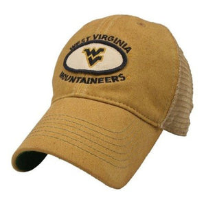West Virginia Mountaineers Adjustable Trucker Style Hat/Cap