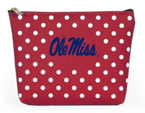 Ole Miss Rebels NCAA Polka Dot Pouch