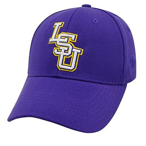 LSU Tigers One Fit/Memory Fit Top of the World Hat - Purple