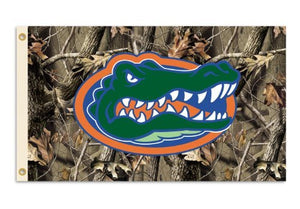 Florida Gators 3-by-5 Foot Flag with Grommets - Camo Background