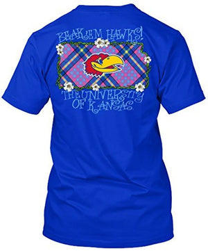 Kansas Jayhawks Beak 'Em Hawks Plaid Tshirt