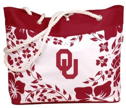 Picture of Oklahoma Sooners Hibiscus Tote Bag