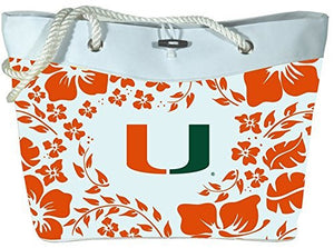 Miami Hurricanes Hibiscus Tote Bag