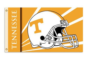 Tennessee Volunteers 3-by-5 Foot Flag with Grommets - Helmet Design