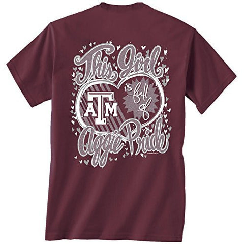 Picture of Texas A&M Aggies Glitter Heart T-shirt