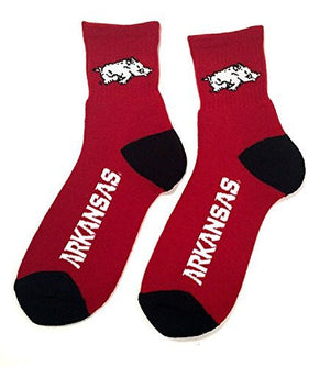 Arkansas Razorbacks Quarter Crew Socks