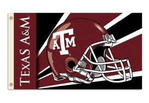 Texas A&M Aggies 3-by-5 Foot Flag with Grommets - Helmet Design