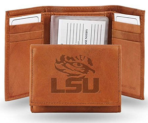 LSU Tigers NCAA Officially Licensed Genuine Leather Tri-fold Wallet