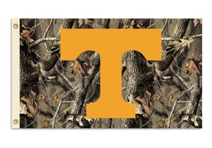 Tennessee Volunteers 3-by-5 Foot Flag with Grommets - Camo Background