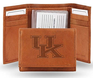Kentucky Wildcats Embossed Leather Trifold Wallet (Manmade Interior)