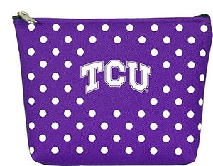 TCU Horned Frogs Polka Dot Pouch
