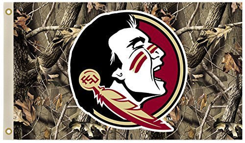 Florida State Seminoles 3 Ft. X 5 Ft. Flag W/Grommets - Camo Background