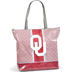 Oklahoma Sooners Greek Key Design Tote