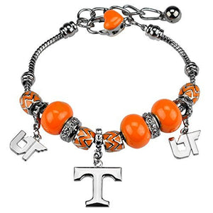 Tennessee Volunteers Charm Bracelet with 3 Vol Charms