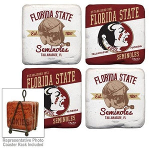 Florida State Seminoles Coasters Set of 4 - Helmet Design
