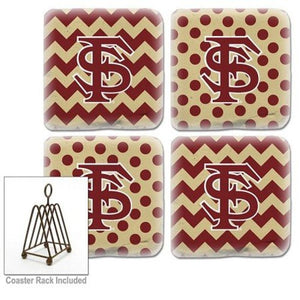 Florida State Seminoles Coasters Set of 4 - Chevron