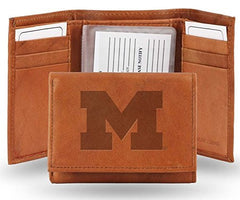 Michigan Wolverines Trifold Leather Wallet