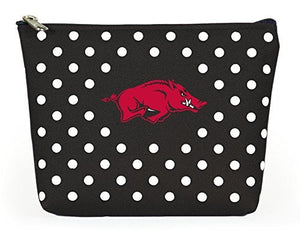 Arkansas Razorbacks Polka Dot Pouch