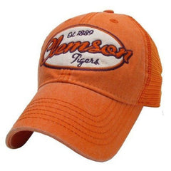 Clemson Tigers Hat Adjustable Trucker Style - Orange