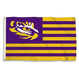 LSU Tigers Stripes Flag with Grommets, 3' x 5'